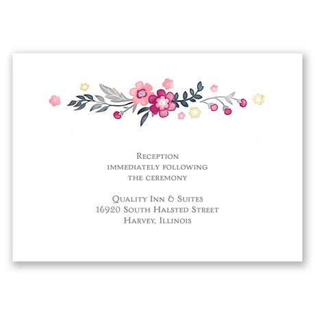Heart and Whimsy Reception Card