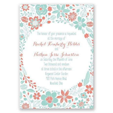 Pretty Little Flowers - Invitation