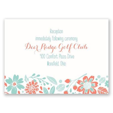 Pretty Little Flowers Reception Card