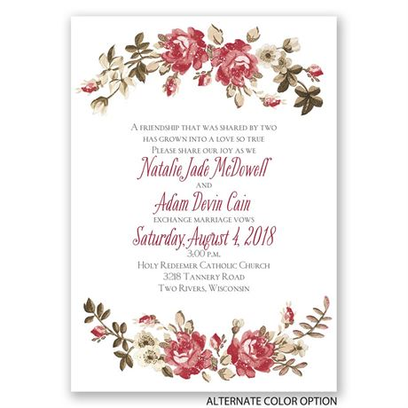 Floral Beauty - Invitation