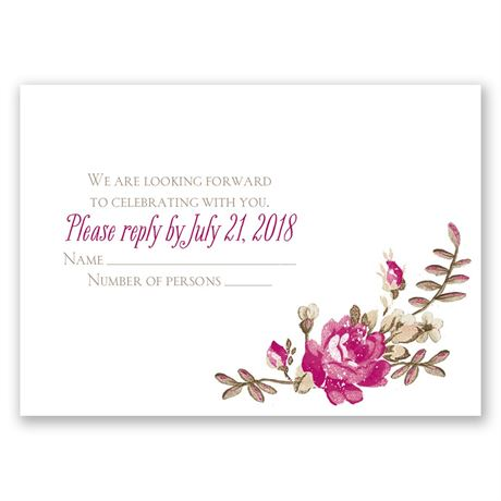 Floral Beauty Response Card