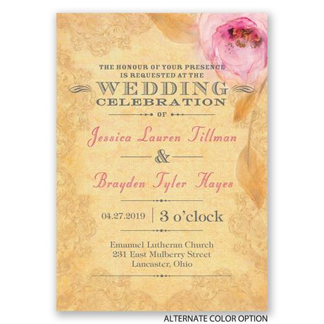 Watercolor Beauty - Invitation