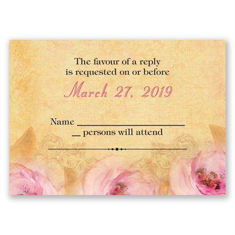 Watercolor Beauty Response Card