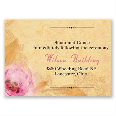 Watercolor Beauty Reception Card