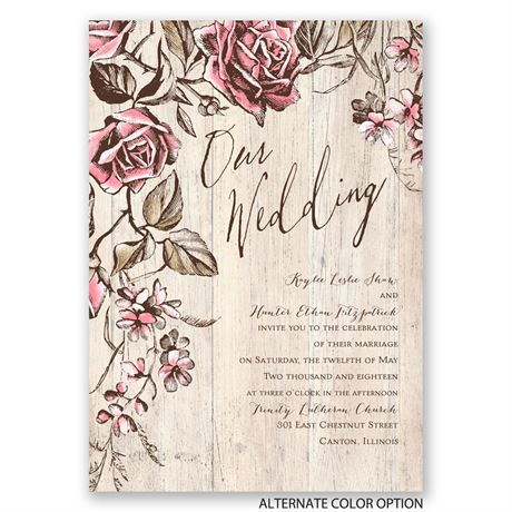 Rustic Rose - Invitation