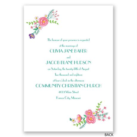 Floral Typography - Invitation