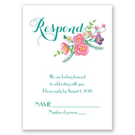 Floral Typography Response Card