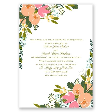 Heavenly Florals - Invitation