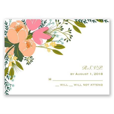 Heavenly Florals Response Card