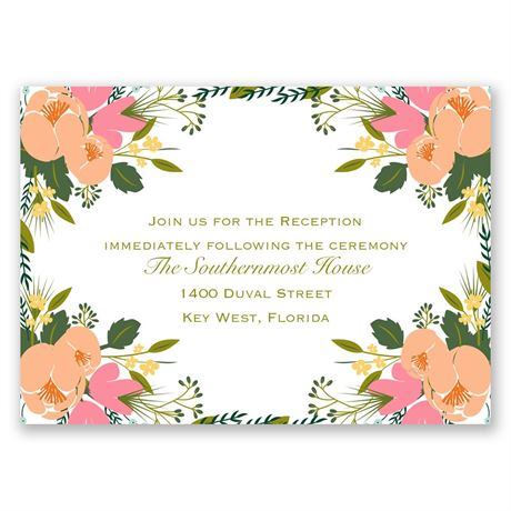 Heavenly Florals Reception Card