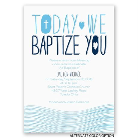 Blessed Waters - Baptism Invitation