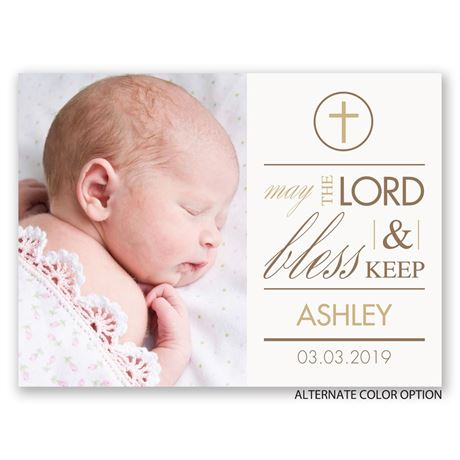God Bless - Petite Baptism Invitation