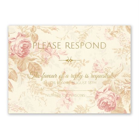 Antique Roses - Foil Response Card
