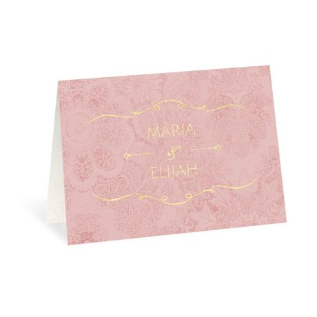 Antique Roses Foil Thank You Card