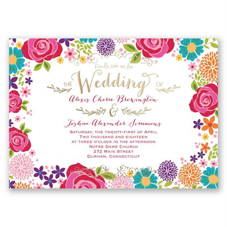 Brilliant Bouquet - Gold - Foil Invitation