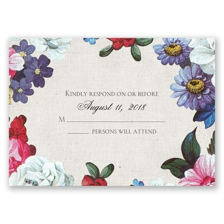 Floral Dream Response Card