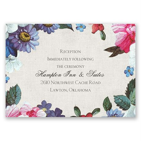 Floral Dream Reception Card