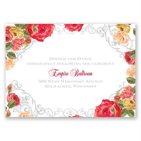 Royal Garden Reception Card