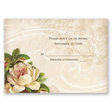 Boho Flowers Response Card