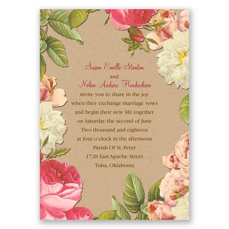 Lush and Luxurious Invitation