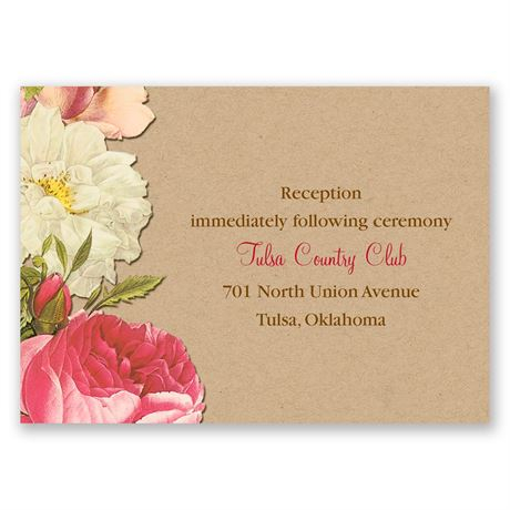Lush and Luxurious Reception Card