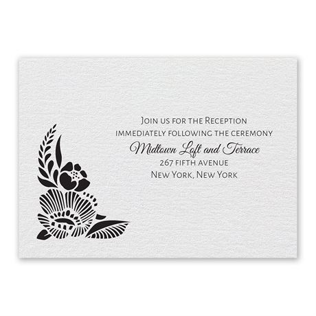 Woodland Window Reception Card