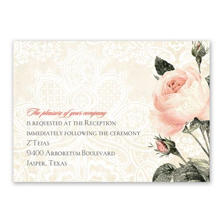 Vintage Garden Reception Card