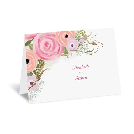 Garden Fresh - Gold - Foil Thank You Card