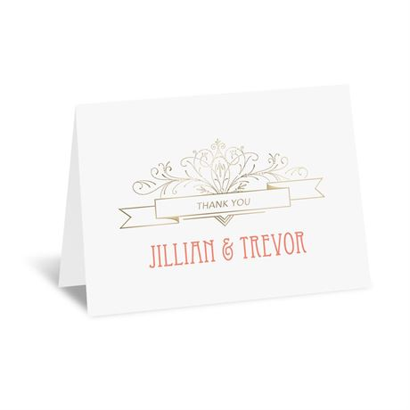 Elegant Elements - Gold - Foil Thank You Card