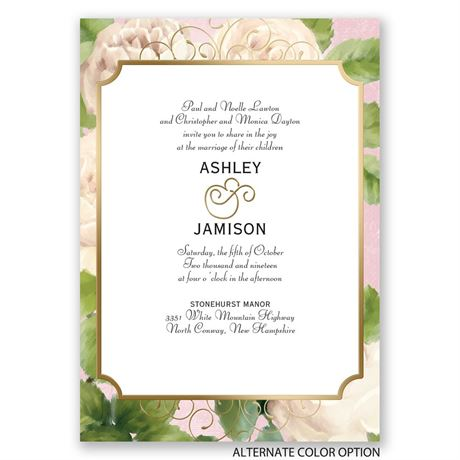 Boho Elegance - Gold - Foil Invitation