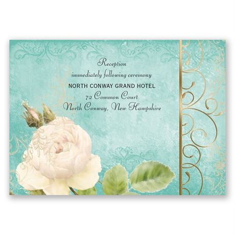 Boho Elegance - Gold - Foil Reception Card