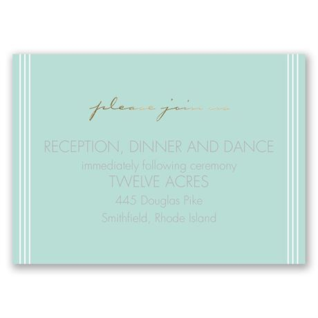 "Couple""s Collage - Gold - Foil Reception Card"
