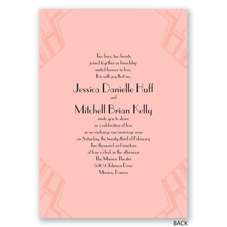 Love Captured - Gold - Foil Invitation