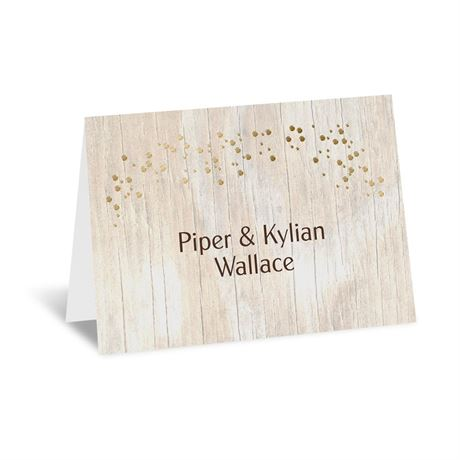 Naturally Fancy - Gold - Foil Thank You Card