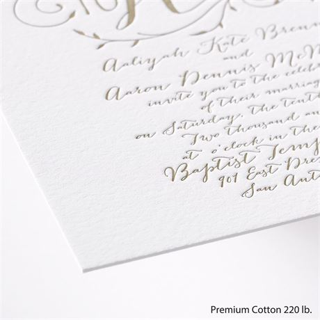 Naturally Romantic - Letterpress Invitation