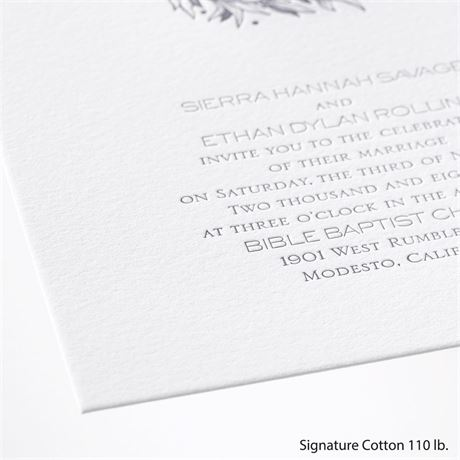 Natural Crest - Letterpress Invitation