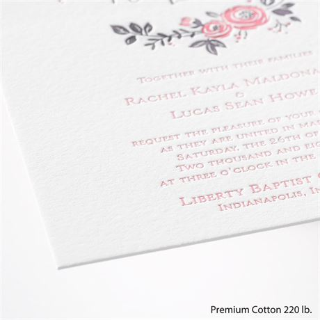Pretty Perfect - Letterpress Invitation