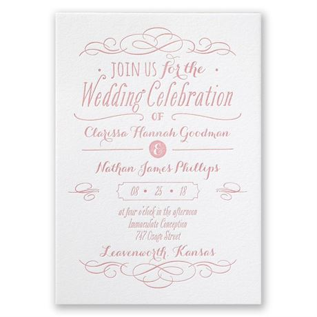 Modern Elegance - Letterpress Invitation