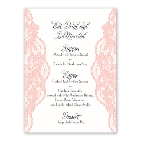 Lacy Gates Menu Card