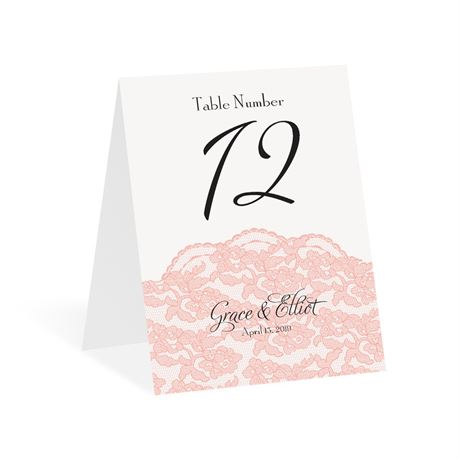 Lacy Gates Table Number Card