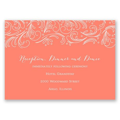 Modern Flourish Reception Card
