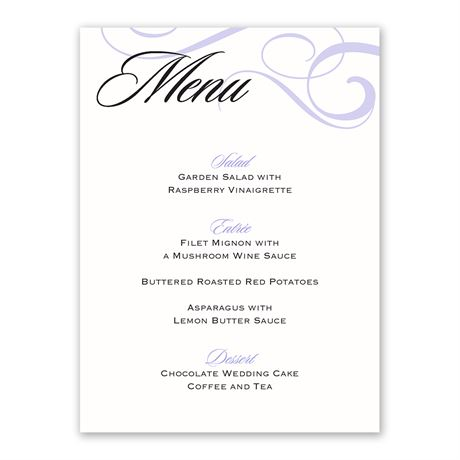 Modern Beauty Menu Card