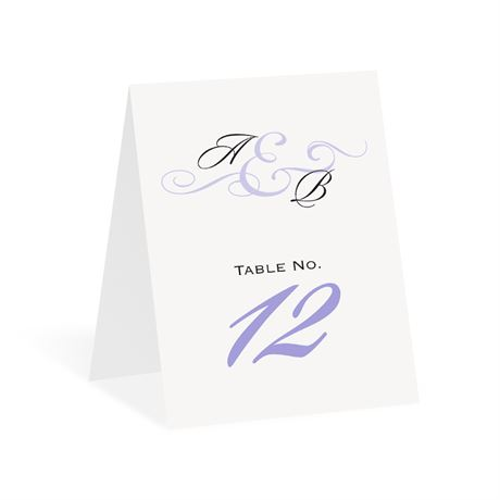Modern Beauty Table Number Card