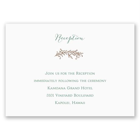 Simply Natural Reception Card