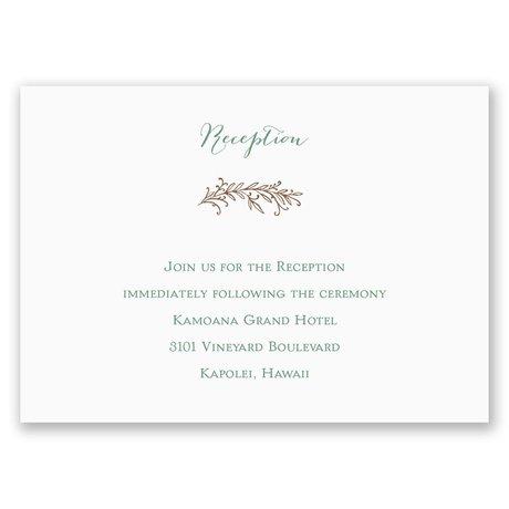 Simply Natural Reception Card