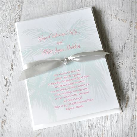 Palm Tree Passion - Invitation