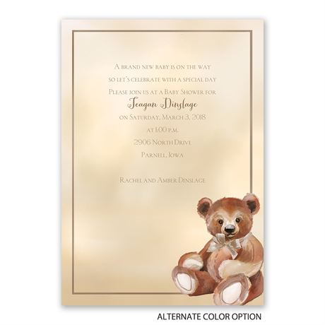 Teddy Bear Classic - Baby Shower Invitation