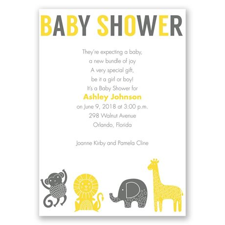 Jungle Jam Baby Shower Invitation