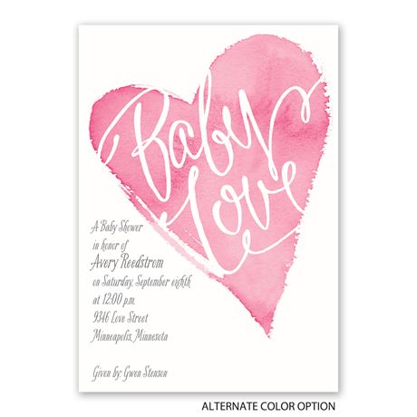 All My Heart - Baby Shower Invitation