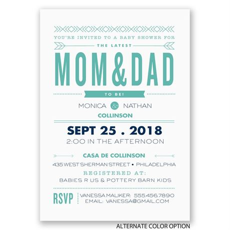Sharp Style - Baby Shower Invitation